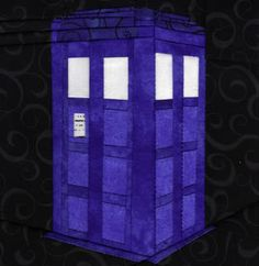 It's Bigger On The Inside- Dr Who- paper pieced quilt block