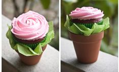 Trendy birthday cupcakes for mom mothers flower pots Cupcakes Flores, Fun Cupcakes, Birthday Cupcakes, Cupcake Cookies, Teacher Cupcakes, Mothers Day Cupcakes, Cupcake Gift, Cupcake Flower Pots, Cupcake Flower Bouquets