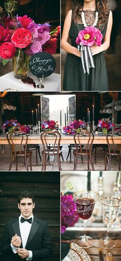 Newsflash! Gone are the days when barn weddings are strewn with mason jars, wildflowers, and burlap table runners. Yes ladies, you and your guests can be glamourous in a barn! Heck, the groom can even wear a tuxedo! It's all about juxtaposing glam details with rustic surroundings and I have a feeling that barn weddings…