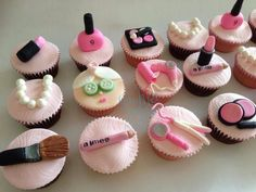 Pamper party cupcakes