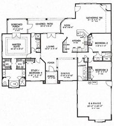 America's Best House Plans - Florida Plan Popular Ideas The Barndominium Floor Plans & Cost to Build It House Plans One Story, Best House Plans, Dream House Plans, House Floor Plans, Basement Floor Plans, Home Design Plans, Plan Design, Florida, 4 Bedroom House Plans