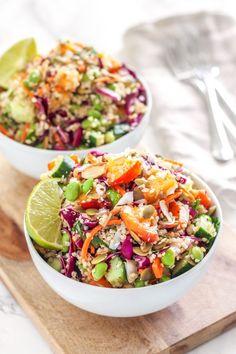 Coconut Lime Quinoa Salad || anti-inflammatory, vegan, gluten-free || Eat Spin Run Repeat