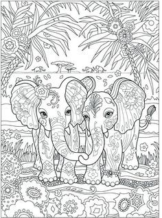 Elephant Coloring Page, Dog Coloring Page, Printable Adult Coloring Pages, Cute Coloring Pages, Disney Coloring Pages, Mandala Coloring Pages, Animal Coloring Pages, Coloring Pages To Print, Coloring Books