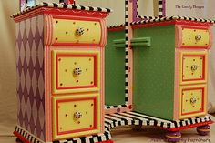The Candy Shoppe Hand Painted Vanity | by madteapartyfurniture