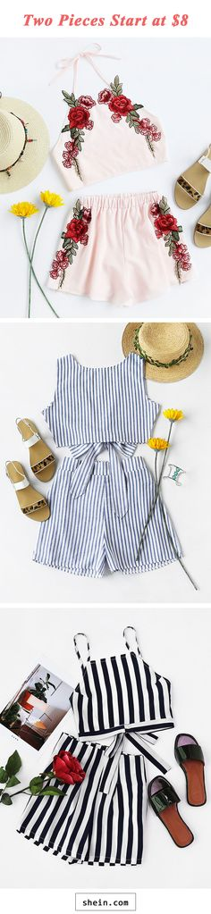 Two pieces & rompers start at $8!