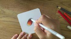 How to draw a gemstone - Edelstein zeichnen mit Buntstift (rot)