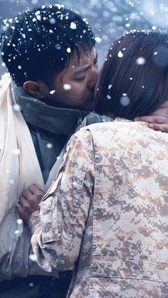 Jin Goo and Kim Ji-won Descendants of the sun Drama Korea, Korean Drama, Descendants, Korean Celebrities, Korean Actors, My Shy Boss, Decendants Of The Sun, Song Joon Ki, Bride Of The Water God
