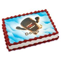 Anime Domo Edible Cake Image Topper -- You can get more details by clicking on the image. (This is an affiliate link) #PartySupplies