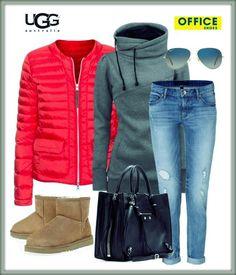 Jak se oháknout na zimu, když je venku chladno a zároveň svítí sluníčko? Jednoduše stylově a s našimi válenkami UGG! :-) Inspirace na obrázku!