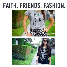 Faith. Friends. Fashion. See how the girls at 'We Wear. We Love.' style 2 of our latest NOTW tops► https://www.notw.com/blog/#faithfashion