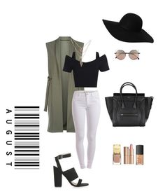 """""""August  """" by prettyinpinkk97 on Polyvore featuring Cameo Rose, Pieces, Linda Farrow, Monki, Topshop, Charlotte Tilbury and NARS Cosmetics"""