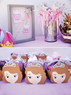 Enchanted Disney Princess Birthday Party {Pink & Purple} // Hostess with the Mostess® Purple Princess Party, Sofia The First Birthday Party, Disney Princess Birthday Party, Princess Party Favors, 4th Birthday Parties, Princess Wands, Princess Sophia, Cinderella Party, 2nd Birthday