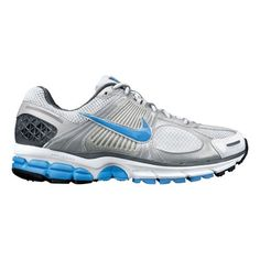Women's Nike Zoom Vomero+ 5 Running Shoe - White/Light Blue 7  » Women's NIKE ZOOM VOMERO+5 - Just when you thought your favorite plushest, most cushiest and cushioned trainer couldn't get any better--it did! The updated women's Nike Zoom Vomero5 has a new midfoot design that fits more comfortably, the heel… more » click image