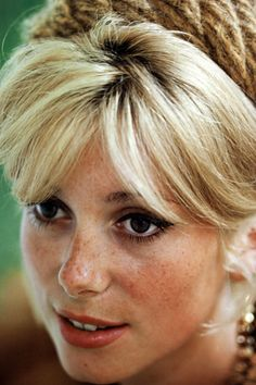 French Actress Catherine Deneuve sporting a sixties-era bouffant.