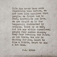 learn to live a little.