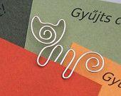 Little Rascal - cat wire bookmark. $6.50, via Etsy.