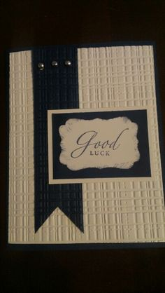 Good luck card--- change the colors to summer colors? Craft Cards, Cards Diy, New Job Wishes, Goodbye And Good Luck, Goodbye Cards, Silhouette Cameo Cards, Bon Voyage Cards, Leaving Cards, Good Luck Cards