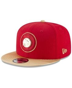 23474770cecdc New Era Atlanta Hawks Triple Gold 9FIFTY Snapback Cap - Red Gold Adjustable  King Hat