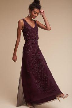 BHLDN Aubrey Dress in Bridesmaids Bridesmaid Dresses Long Grey Bridesmaids, Purple Bridesmaid Dresses, Bride Dresses, Purple Dress, Chic Dress, Dress Up, Dress Ootd, Verde Tiffany, Vogue