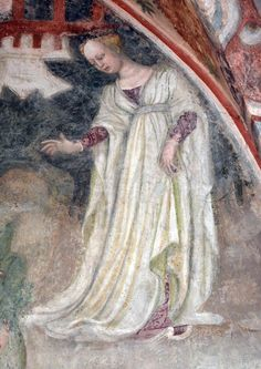 Tomb of isabella of bourbon 1400 burgundian gown with for Bonifacio mural painting