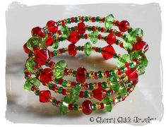 Inspiration photo - Beaded Christmas Memory Bracelet (Going to work on making this today LT)