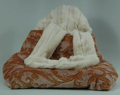 Jack Rocketwear Buggle Brats Pet Carrier Bag Purse Camel Paisley Reversible - Mirranme