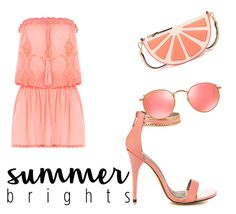 """""""Got those summer feels!"""" by beautybonanz ❤ liked on Polyvore featuring Melissa Odabash, Michael Antonio, Kate Spade and Ray-Ban"""