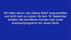 Samsung Galaxy Note 7: Ausschalten & nicht mehr nutzen! - https://apfeleimer.de/2016/09/samsung-galaxy-note-7-ausschalten-nicht-mehr-nutzen - Die Geschichte mit explodierenden Samsung Galaxy Note 7 hat sich zu einem PR-GAU entwickelt, auch wenn der Konzern eigentlich alles richtig macht und einen weltweiten Rückruf bzw. Umtausch für das Note 7 startet. Apple kommt das Desaster rund um den stärksten iPhone 7 Kontrahenten natürlich sehr ...
