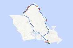 Oahu North Shore travel route. | qandvictoria.wordpress.com