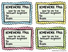 Free Homework Passes