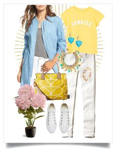 """""""Follow the Sun"""" by dundiddit on Polyvore featuring Hollister Co., Elodie, MANGO, Orla Kiely, Converse, National Tree Company, Lilly Pulitzer and ABS by Allen Schwartz"""