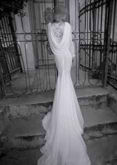 Couture Bridal Collection By Yaki Ravid dramatic cowl back Mod Wedding, Wedding Bells, Bridal Collection, Dress Collection, Couture Collection, Dream Wedding Dresses, Wedding Gowns, Weding Dresses, Bridal Gowns