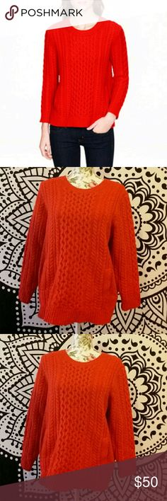 NWOT J. Crew Red Pullover Sweater This is perfect for the upcoming season! Red in color, new without tags. Still has the remove before washing/wearing tab and comes with extra button. 100% Wool. Measurements on request! Always open to reasonable offers. Bundle and save! J. Crew Sweaters Crew & Scoop Necks