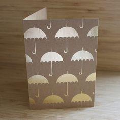 Gold Umbrella foil card