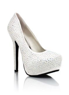 ima be diva.  *embellished-satin-platforms WHITE - from GoJane.com*