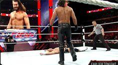Randy Orton sneak attack RKO on Seth Rollins #WWE #GIF