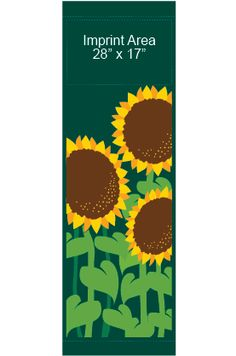 Fancy Sunflowers - Stock banner S09413 Screen print outdoor fabric banners by Consort Display Group. #screenprint