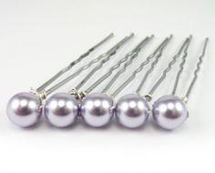 Purple Pearl Hair Pins Pearl Hair Pins, Pink, Purple, Swarovski Pearls, Bridal, Wedding Hair Accessories, Flowers In Hair, Bobby Pins, Wedding Hairstyles