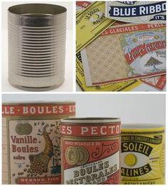 Diy: Vintage cans
