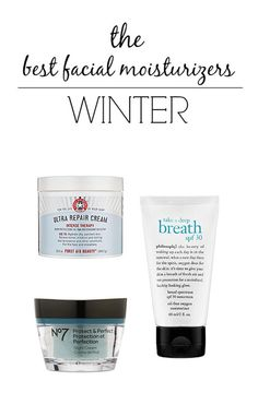 #Beauty: The Best Facial Moisturizers for Winter