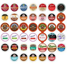 Winter and Seasonal Flavored Coffee Tea Hot Cocoa and Cider Single Serve Cups for Keurig K cup Brewers 40 Count *** Find out more about the great product at the image link.