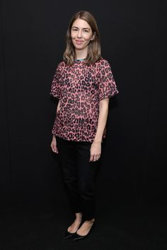 Sofia Coppola backstage at the Marc Jacobs Spring 2017 fashion show during New York Fashion Week at Hammerstein Ballroom on September 15, 2016 in New York City.