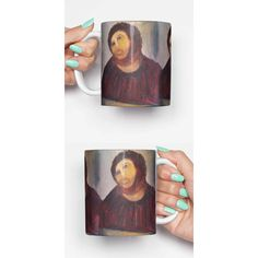 Jesus Fresco Funny Mug Gifts for Him Meme Mug Unique Mug Office Mug... ($14) ❤ liked on Polyvore featuring home, kitchen & dining, drinkware, drink & barware, grey, home & living and mugs