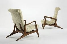 Vladimir Kagan, Multi-Position Reclining Armchairs for Kagan-Dreyfuss, Inc., 1960.