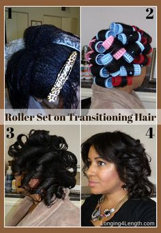 Roller Set on Transitioning Hair | Good Hair in a Bottle Review