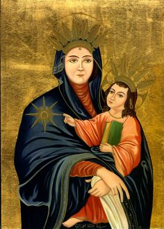 Maronite icon of Mary and Jesus  Our Lady icon is an artwork by Artist painter - Iconographer Christine Habib El Daye