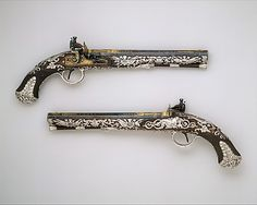 Ornamented Firearms   Flintlock Dueling Pistols