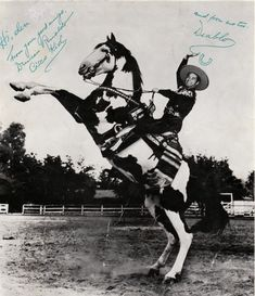 Cisco Kid and his horse, Diablo.  Diablo was the reason I watched this weekly tv show when I was a kid.