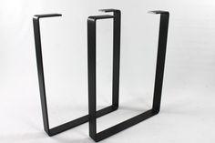 Set of 2 Heavy Duty Steel Legs, Desk Legs, Industrial Table Legs, Office
