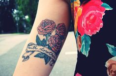 This tattoo is of pretty peonies to honor her grandmother. Love the style. http://thestir.cafemom.com/beauty_style/190674/25_floral_tattoos_to_beautifully